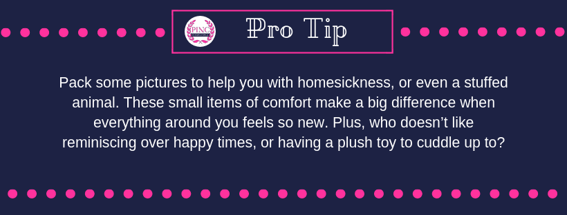 Tip for bringing pieces of home while you travel